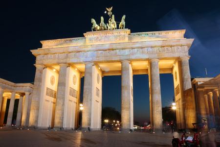 quadriga: Pariser Platz and the Brandenburg Gate, Berlin-Mitte.