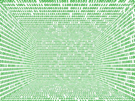 reloaded: Symbolic picture: digital, data space datascape, matrix.