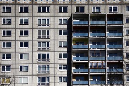 panel: Panel building, Berlin-Friedrichshain.
