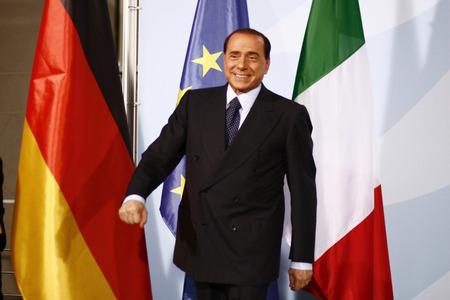 Silvio Berlusconi - Treffen des italienischen Ministerpraesidenten mit der dt. Bundeskanzlerin, Bundeskanzleramt, 6. Oktober 2008, Berlin-Tiergarten.
