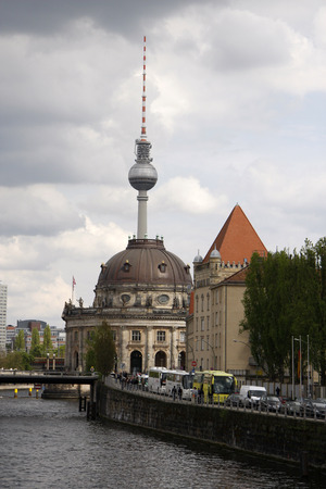 bode: May 2008 - BERLIN: Bode Museum, the Fernsehturm tower in the middle of television District of Berlin. Editorial