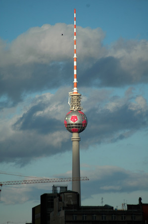 tv tower: May 2006 - Berlin: The TV Tower television tower in the middle district of Berlin. Editorial