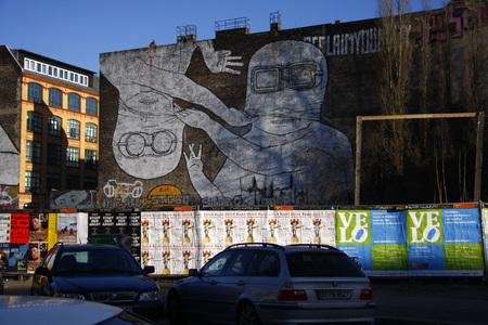 graffity: bemalte Hausfassade, Graffity, Berlin-Kreuzberg. Editorial