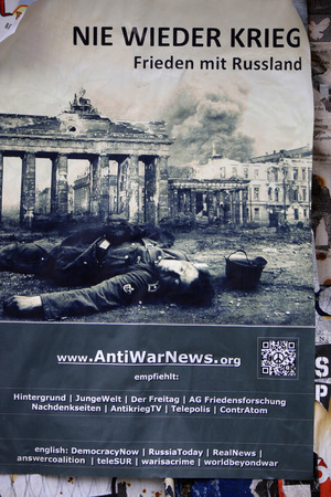 forthcoming: Never again war - peace with Russia - Election campaigns for the forthcoming European elections, Berlin. Editorial