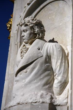 beethoven: Ludwig van Beethoven sculpture, Tiergarten, Berlin. Editorial