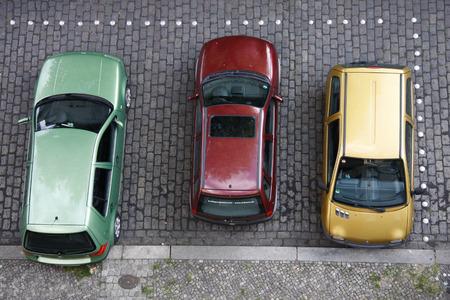 autos: farbige Autos, Berlin.