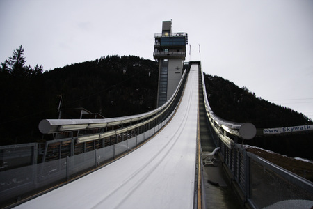 The Erdinger Arena, the ski jumping hill in Oberstdorf at the time of the International Fourier Chance Tour. Editorial