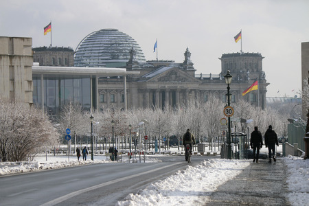 Reichstag - winter impressions. Editorial