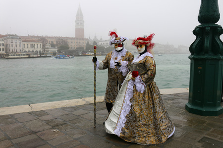 gracious: VENICE, ITALY - CIRCA FEBRUARY 2016: Masks - impressions from the Carneval of Venice.
