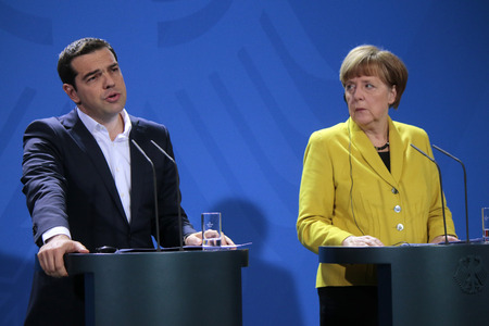 chancellor: Alexis Tsipras German Chancellor Angela Merkel - Meeting of German Chancellor with the Greek Prime Minister Chancellery 23 March 2015 Berlin