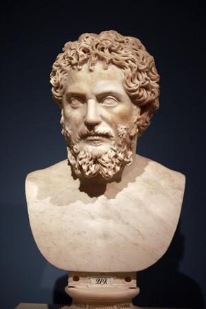 severus: sculpture bust Septimus Severus Berlin. Editorial