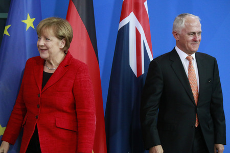chancellor: Meeting of the German Chancellor with the Australian Minister President Federal Chancellery 13 November 2015 Berlin