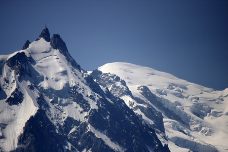 aiguille: Aiguille du Midi Mont Blanc Stock Photo