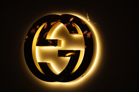 the logo of the brand Gucci December 2013 Berlin.