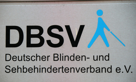 visually: the logo of the brand DBSV German Blind and Visually Impaired Berlin