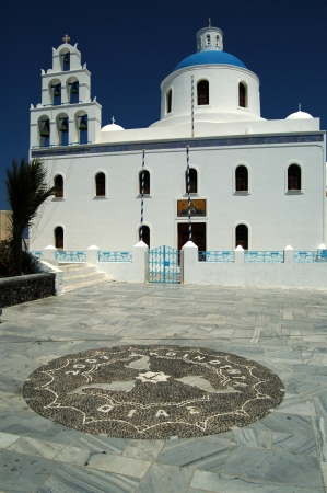 Greek Orthodox church in Oia, Santorini, Greece