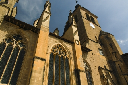abbaye: Cathedral at Saint-Antoine l Abbaye Stock Photo