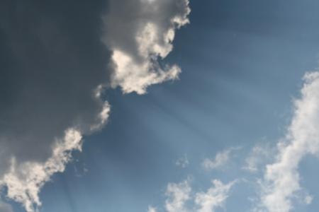Sun behind the clouds Zdjęcie Seryjne
