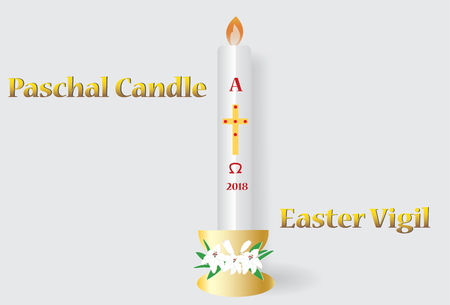 Paschal candle vector image. Illustration