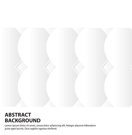 Gradient White and Gray Oval Shape Abstract Background,Vector Illustration. Ilustração