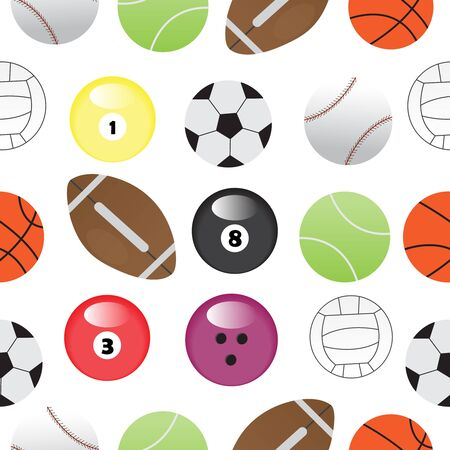 Sport balls seamless pattern,vector illustration.