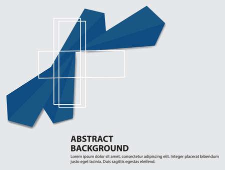 Abstract blue triangle on white background,vector illustration. Ilustração