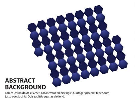 Strip blue hexagon on white background,vector illustration.