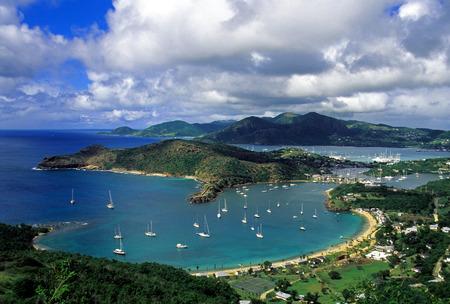 antigua: Antigua - English Harbor Stock Photo