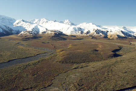 denali: Jenny Creek - Denali National Park Stock Photo