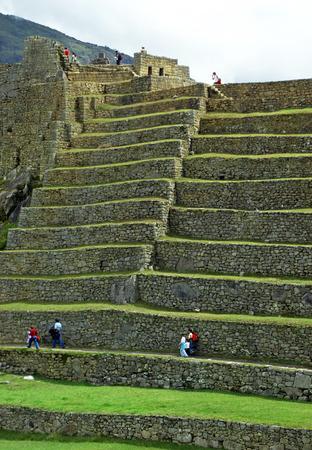 machu picchu: Machu Picchu Agricultural Terraces Stock Photo