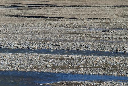 glacial: Alaska - Glacial River Braiding Stock Photo