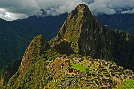 machu picchu: Huayna Picchu - above Machu Picchu