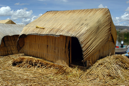 Reed House Construct on Lake Titicaca