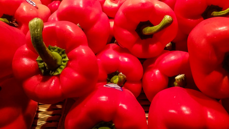 peppers: Red peppers Stock Photo