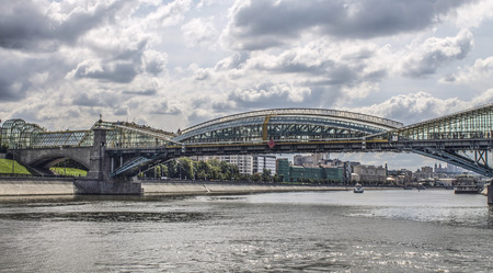 A monument. Summer. History. The architecture. The beauty. Pedestrian bridge photo