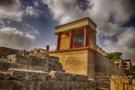 Knossos Palace ruins. Heraklion, Crete, Greece