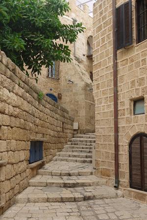 yaffo: Old stairs in Yaffo, Israel Stock Photo