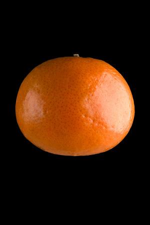 mandarine: mandarine isolated on the black Stock Photo