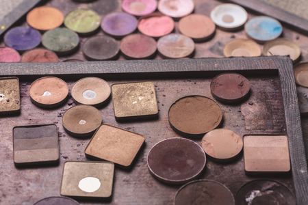 eye shadows: Colorful eye shadows palette. Makeup background