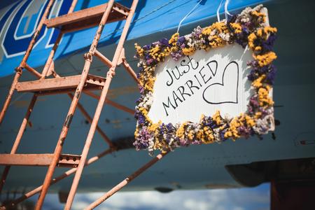 recien casados: la decoración sólo se casó para la boda