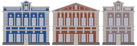 Classical European architecture buildings houses. Moscow architecture buildings houses. Classicism style buildings. Traditional buildings architecture.