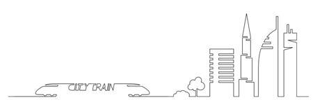 Sketch of trees and trees, silhouettes of trees, trees Slylish urban design for web designers. Text Vettoriali