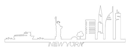 Flat design of silhouette of Liberty shape, silhouette of silhouettes, silhouettes, silhouettes, silhouettes, silhouettes, silhouettes, silhouettes. NYC vector design for web designers