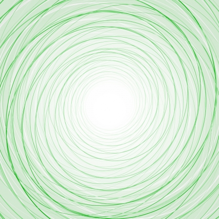 Abstract background with thin green circles