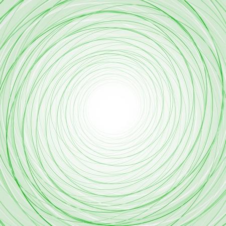 얇은 녹색 동그라미와 추상적 인 배경을
