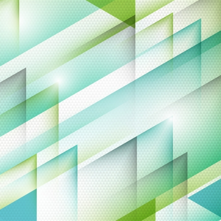 Abstract background with green triangles   イラスト・ベクター素材