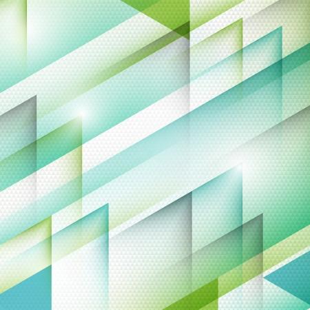 녹색 삼각형이있는 추상적 인 배경
