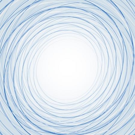 얇은 파란색 동그라미와 추상적 인 배경을