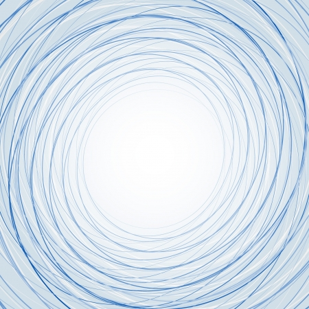 Abstract background with thin blue circles Vector