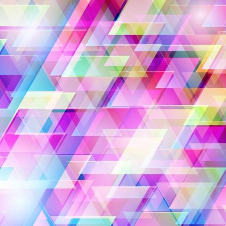 색깔의 삼각형과 추상적 인 배경